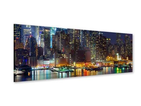 Panoramic Acrylic Print Skyline New York Midtown At Night