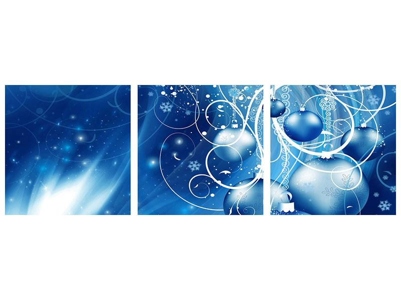 Panoramic 3 Piece Acrylic Print Shingle Bells
