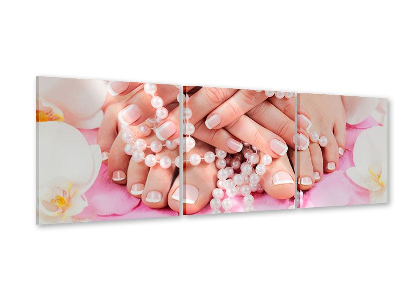 Panoramic 3 Piece Acrylic Print Hands And Feet