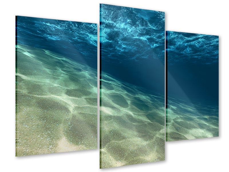 Modern 3 Piece Acrylic Print Under The Water