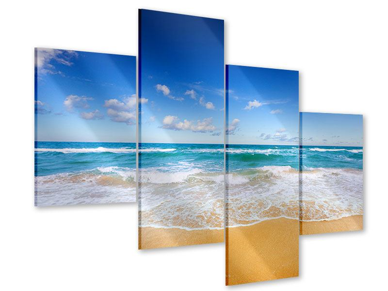 Modern 4 Piece Acrylic Print The Tides And The Sea