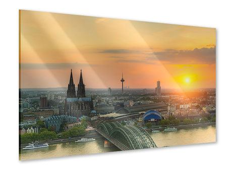 Acrylic Print Skyline Cologne At Sunset