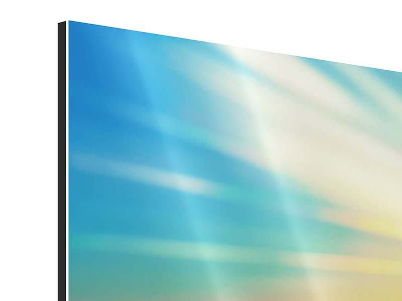 Panoramic Aluminium Print Sunset Above The Clouds