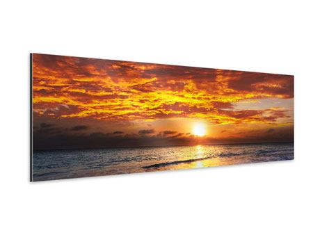 Panoramic Aluminium Print Relaxation By The Sea