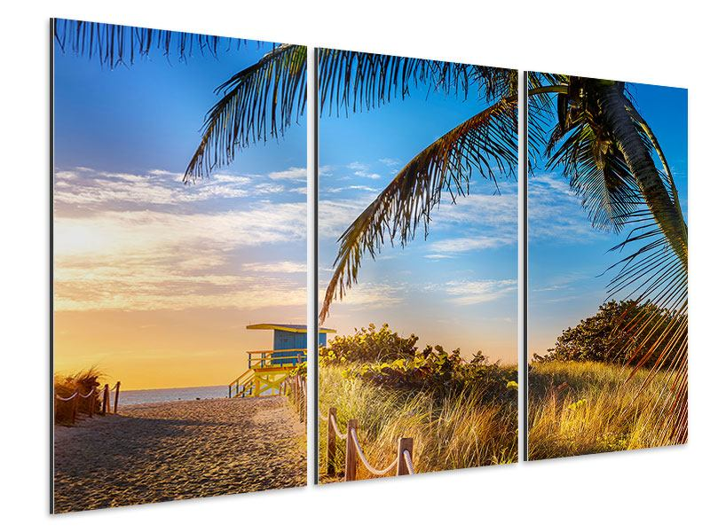 Tableau Aluminium en 3 parties Grains de sable