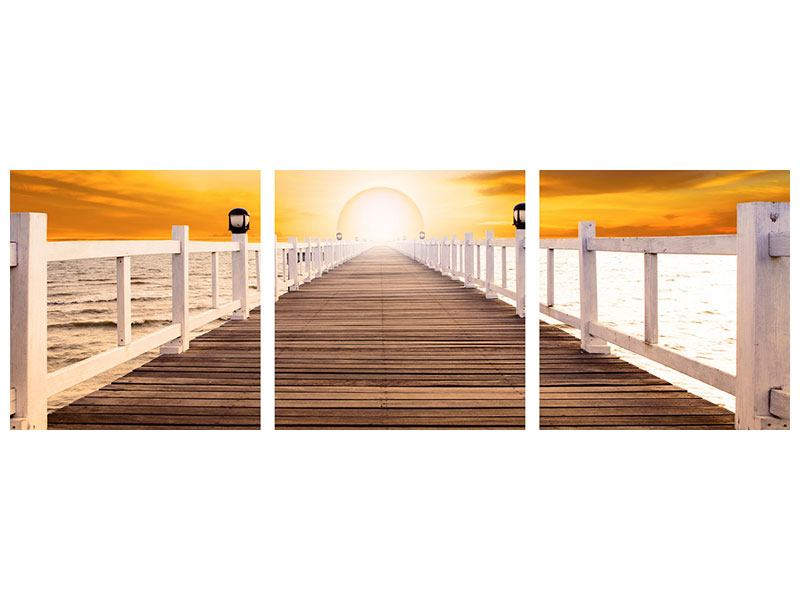 Panoramic 3 Piece Aluminium Print The Bridge On Happiness