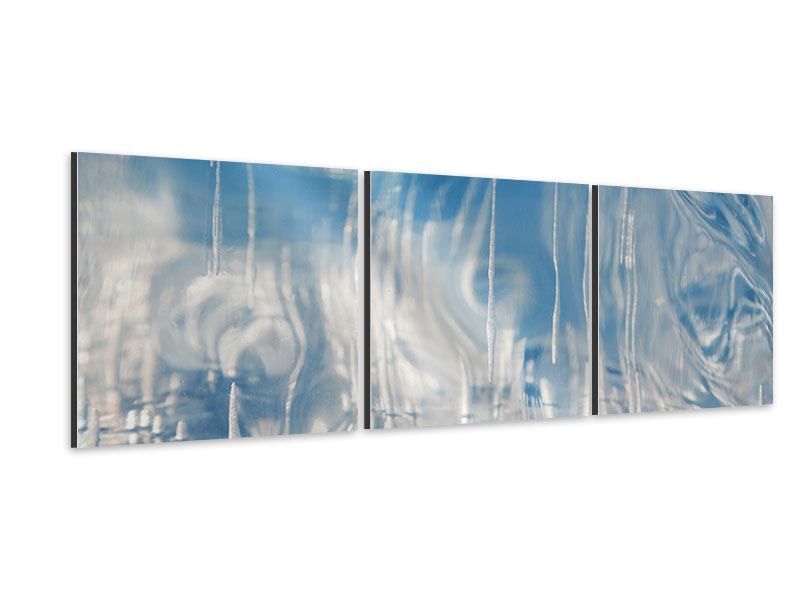 Panoramic 3 Piece Aluminium Print The Ice Of Lake Baikal