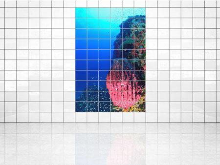 Tile Print Underwater world