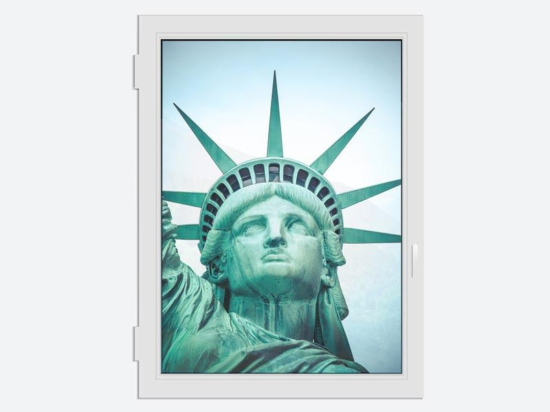 Window Print Statue of Liberty