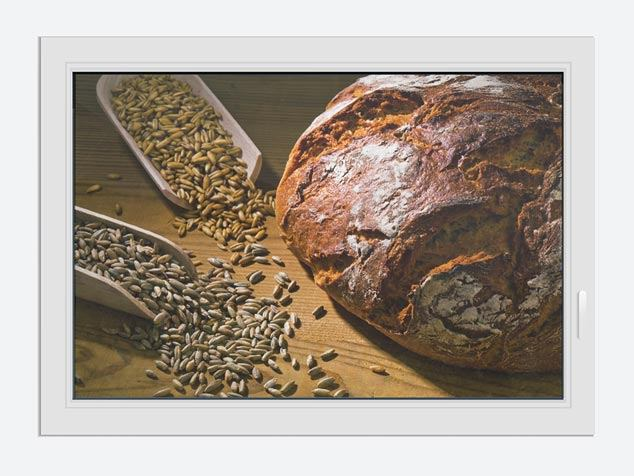 Window Print Photo Wallaper Bread