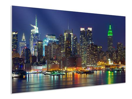 Forex Print Skyline New York Midtown At Night