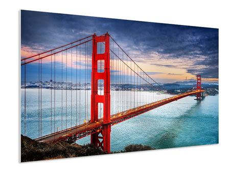 Forex Print The Golden Gate Bridge At Sunset