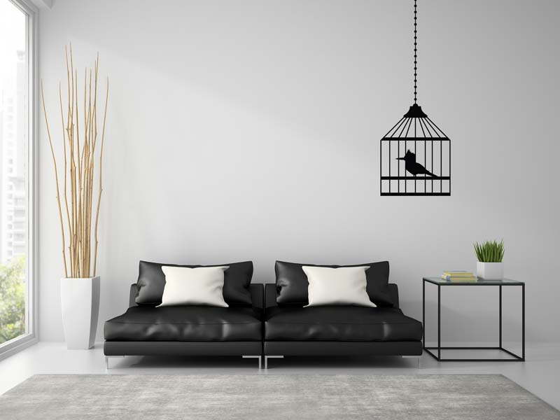 Wall Sticker Bird in a cage