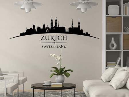 Wall Sticker Skyline Zürich
