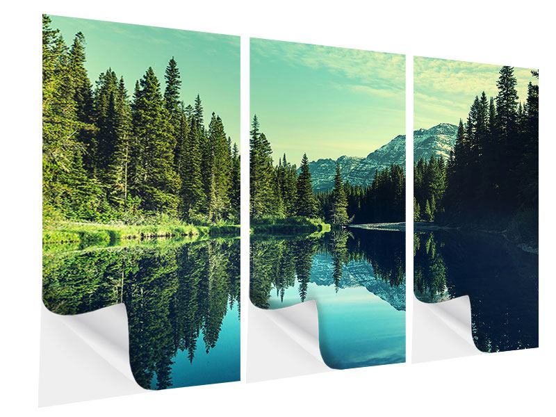 3 Piece Self-Adhesive Poster The Music Of Silence In The Mountains