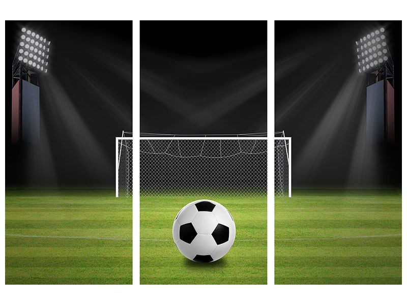 3 Piece Self-Adhesive Poster Soccer-Goal