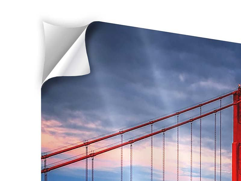 Poster autoadesivo Il Golden Gate Bridge al tramonto