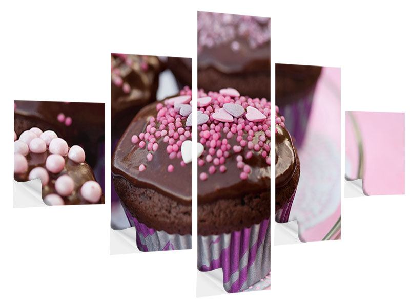 5 Piece Self-Adhesive Poster Muffins