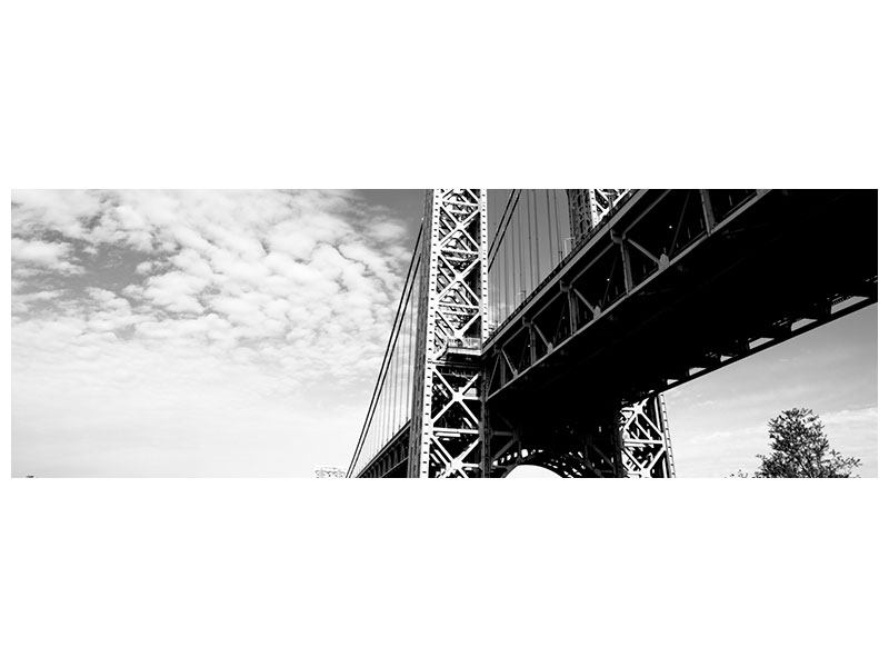 Alu-Dibond effet metallise Panoramique Pont George Washington