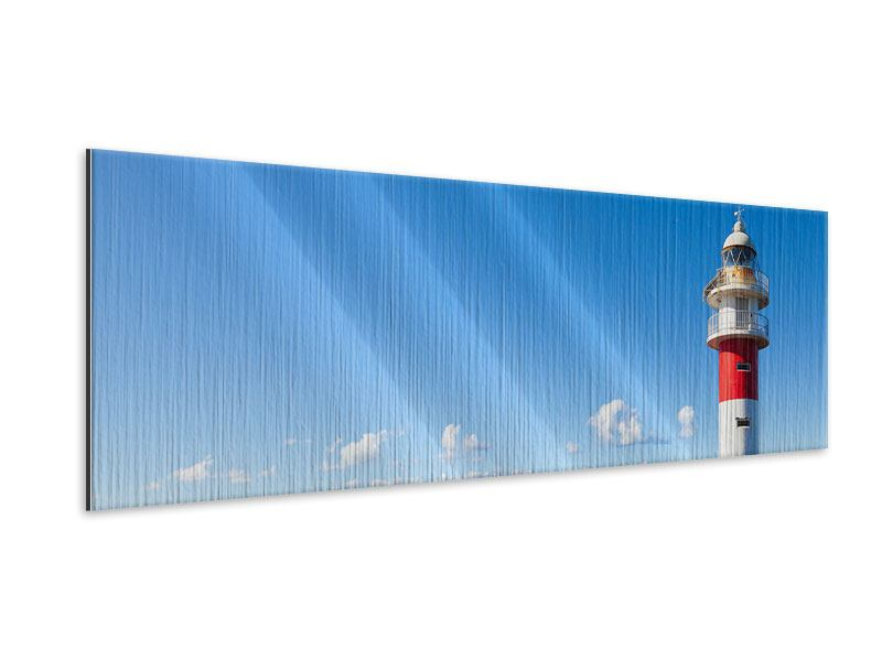 Panoramic Metallic Print Lighthouse In Punta Teno