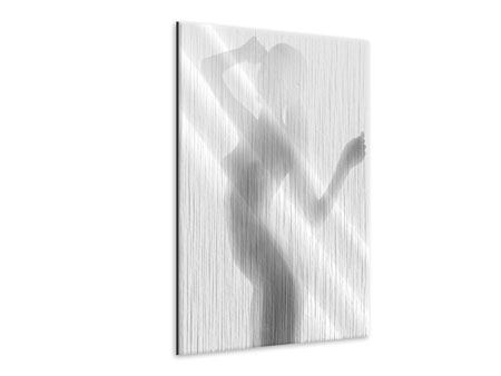 Metallic Print Nude Model