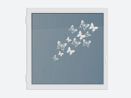 Decorative Window Film 12 butterflies
