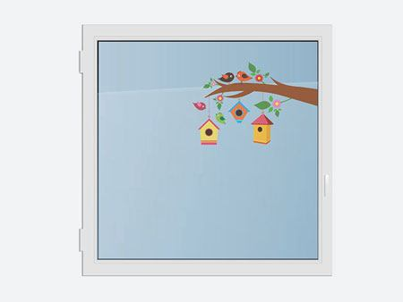 Sticker pour vitres Happy Birds