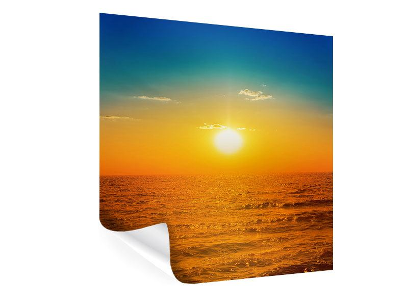 Poster The Sea At Sunset