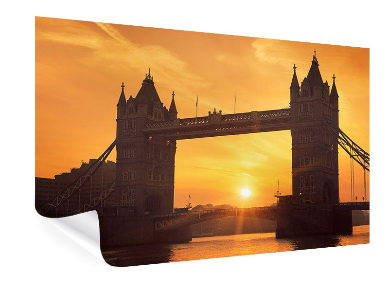 Poster Sunset At Tower Bridge