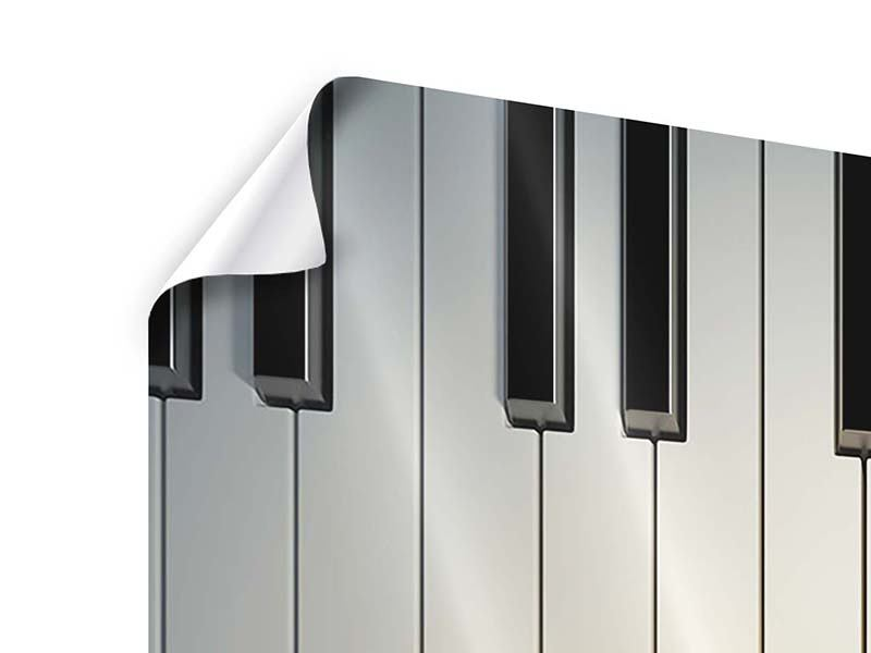 9 Piece Poster Piano Keys