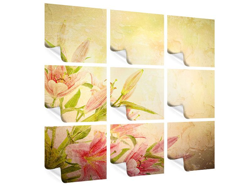 9 Piece Poster Painting Lily