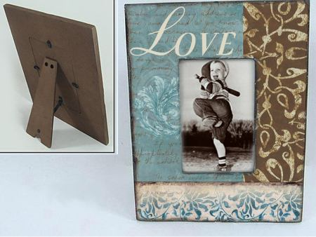 Vintage Wooden Photo Frame LOVE