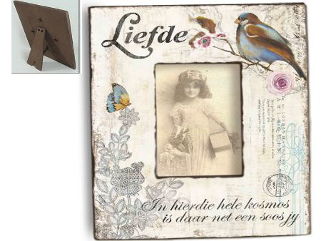 Vintage Wooden Photo Frame Bird DREAM