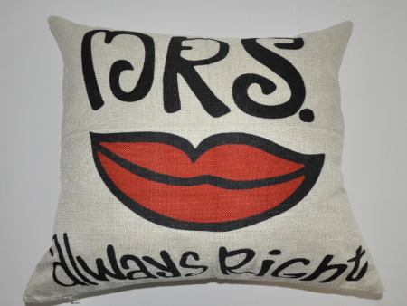 Cushion Cover MRS. Always Right With Mouth