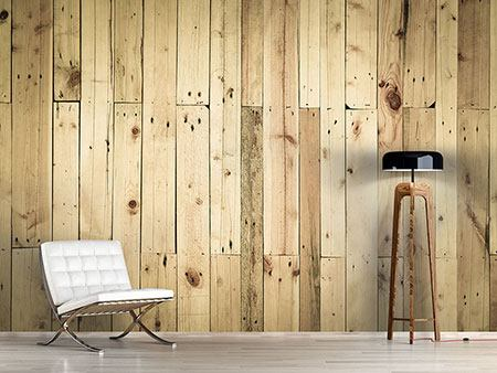 Photo Wallpaper Wood Panels